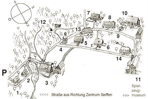 Seiffen - Skanzen - plánek